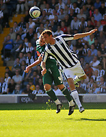 Photo: Tony Oudot/Richard Lane Photography. West Bromwich Albion v Plymouth Argyle. Coca Cola Championship. 12/09/2009. <br /> Roman Bednar of WBA is challenged by Carl Fletcher of Plymouth