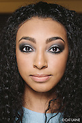 PROVIDENCE, RI - FEB 13: Kendra Moore poses backstage prior to the Alistair Archer show during StyleWeek NorthEast on February 13, 2015 in Providence, Rhode Island. (Photo by Cat Laine)