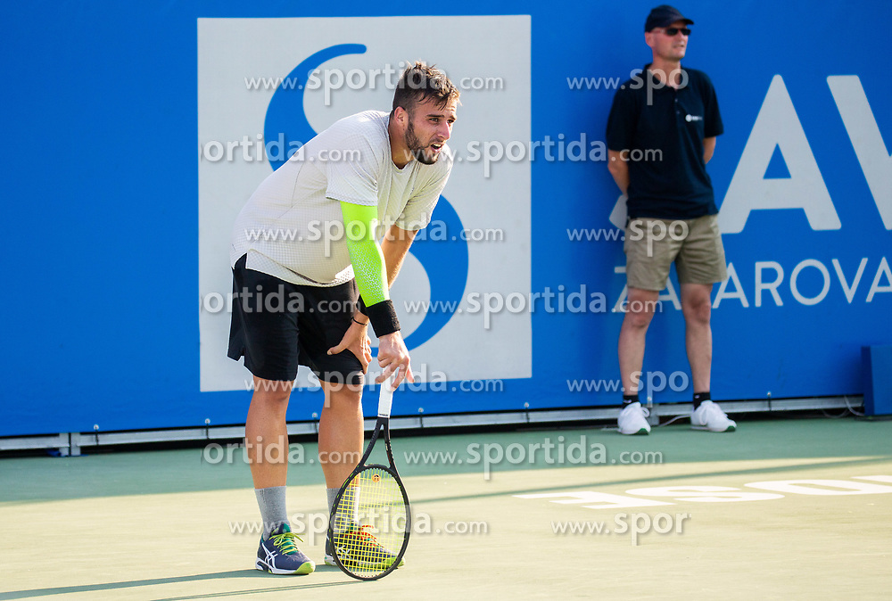 Aljaz Radinski (SLO)  during Day 4 of ATP Challenger Zavarovalnica Sava Slovenia Open 2018, on August 6, 2018 in Sports centre, Portoroz/Portorose, Slovenia. Photo by Vid Ponikvar / Sportida