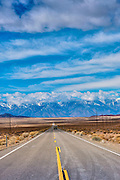 Approaching, Entrance, to, Death Valley, NP, West End, Route 190, arid, mountain range, United States, USA