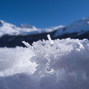 Ice crystals in the Engadin.