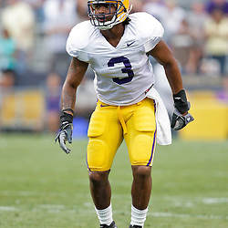 18 April 2009: LSU Tigers defensive back Chad Jones on defense during the 2009 LSU spring football game at Tiger Stadium in Baton Rouge, LA.