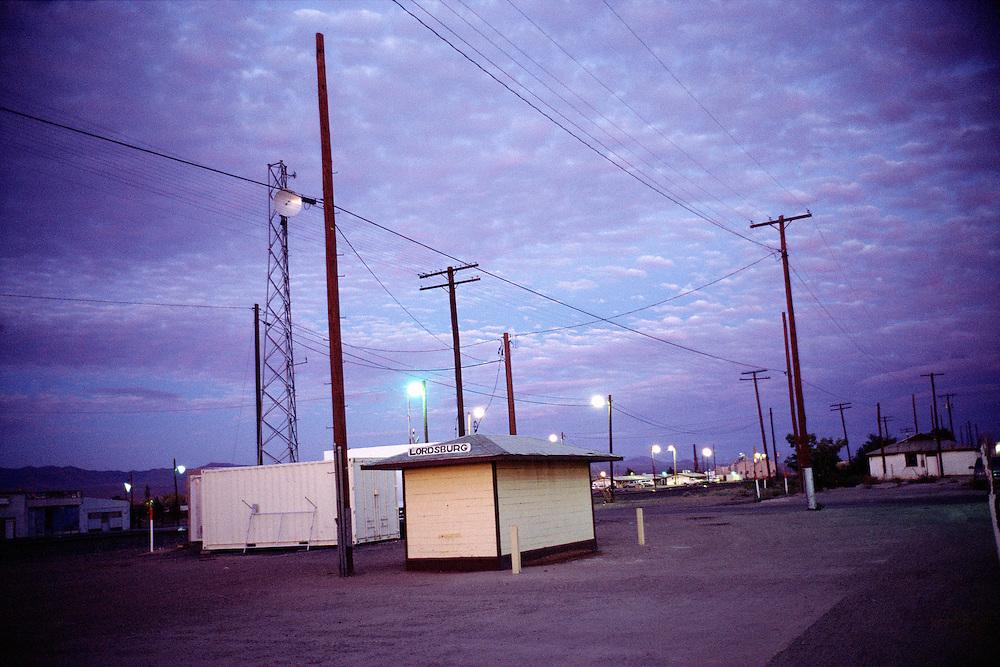 Railway crossing. Lordsburg, Texas, USA.