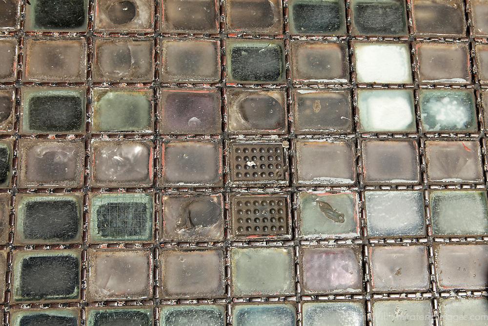 Europe, Ireland, Dublin. Glass bricks on city street of Dublin.