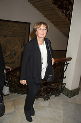 DELIA SMITH at a reception in honour of Anna del Conte held at The Italian Emabssy, Grosvenor Square, London on 9th November 2015.