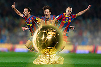 FOOTBALL - MISCS - FIFA BALLON D'OR 2010 - PREVIEW - 16/12/2010 - CREDIT : PHOTOMONTAGE ANNE LEVIEILS / IMACOM DEVELOPPEMENT / DPPI