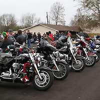 Libby Ezell | BUY AT PHOTOS.DJOURNAL.COM<br /> Bikers filled the enitre parking lot of Grace Memorial Baptist Church, the final destination of this years Toy Run