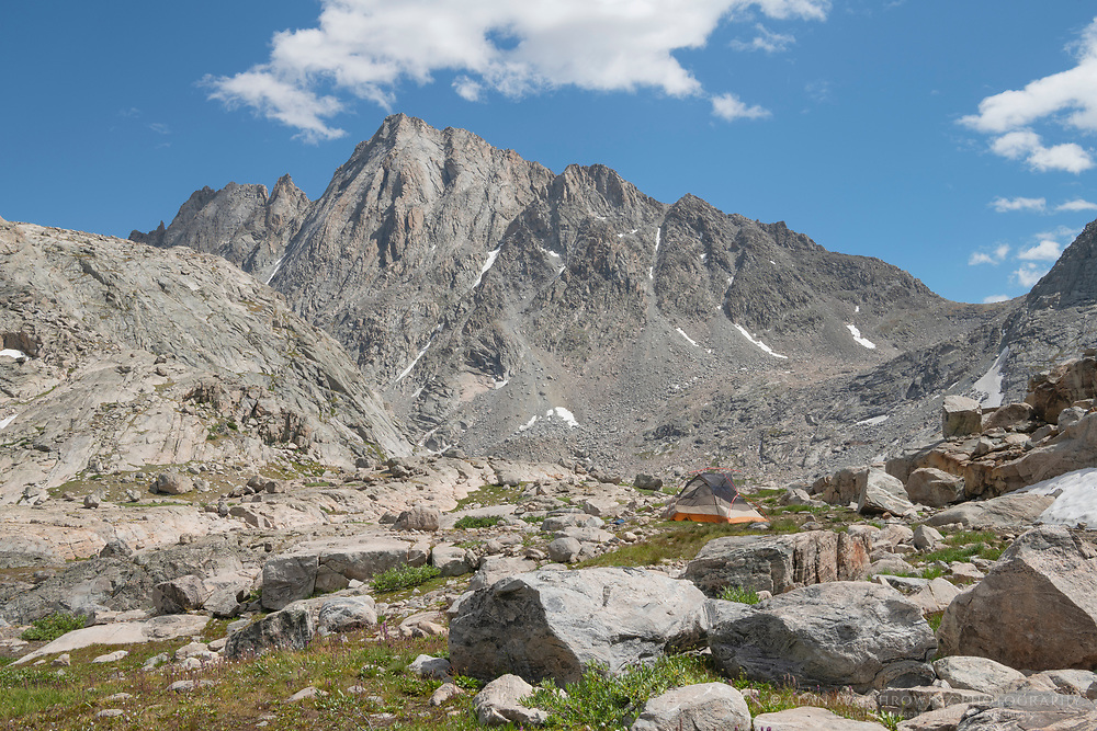 Harrower Peak seen from Indian Basin, Bridger Wilderness, Wind River Range Wyoming