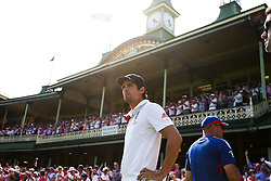 © Licensed to London News Pictures. 05/01/2014. Losing England captain Alastair Cook  during day 3 of the 5th Ashes Test Match between Australia Vs England at the SCG on 5 January, 2013 in Melbourne, Australia. Photo credit : Asanka Brendon Ratnayake/LNP