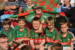 Boys Oh Boys Mayo&rsquo;s summer qualifer journey continues&hellip; pictured are fans Phillip Walsh, Tadgh Foley, Shane Horan, Padraig and Cathal Foley with Breege Walsh enjoying the game against Kildare in McHale Park on saturday evening.<br />
