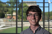 Zachary Meisel of Ohio University's Institute of Nuclear & Particle Physics (INPP) poses for a portrait in the Living Learning Center for a portrait on September 27, 2016.