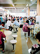 Diners at Albert Center hawker court