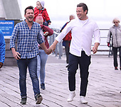 Jamie Oliver and Jimmy Docherty act up on Southend Pier Essex Jamie and Jimmy's Friday night feast
