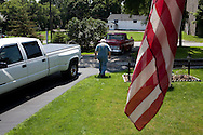 Ernie Rose walks to his truck in Lockport, NY, on Thursday, July 30, 2009.