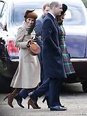 Royals at Sandringham Norfolk Christmas day 2017