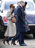 Royals at Sandringham Norfolk Christmas day 2017