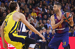 December 8, 2017 - Barcelona, Catalonia, Spain - Jan Vesely and Juan Carlos Navarro during the match between FC Barcelona v Fenerbahce corresponding to the week 11 of the basketball Euroleague, in Barcelona, on December 08, 2017. (Credit Image: © Urbanandsport/NurPhoto via ZUMA Press)