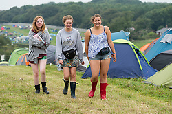 © Licensed to London News Pictures. 05/09/2014. Isle of Wight, UK. Festival goers at Bestival 2014 Day 2 Friday.  This weekend's headliners include Chic featuring Nile Rodgers, Foals and Outcast Photo credit : Richard Isaac/LNP