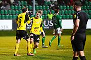 LJUNGSKILE SVERIGE - 2017-11-04: Joel Nilsson Mj&auml;llby AIF och Oskar Sverrisson Mj&auml;llby AIF under kvalmatchen till Superettan mellan Ljungskile SK och Mj&auml;llby AIF p&aring; Skarsj&ouml;vallen den 4 november i Ljungskile, Sverige.<br /> Foto: Jonas Gustafsson/Ombrello<br /> ***BETALBILD***