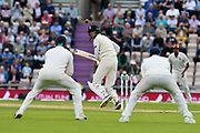 Stuart Broad of England batting during the first day of the 4th SpecSavers International Test Match 2018 match between England and India at the Ageas Bowl, Southampton, United Kingdom on 30 August 2018.