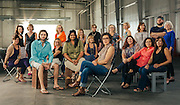 Group photo of the artists at Silver Street Studios.<br />