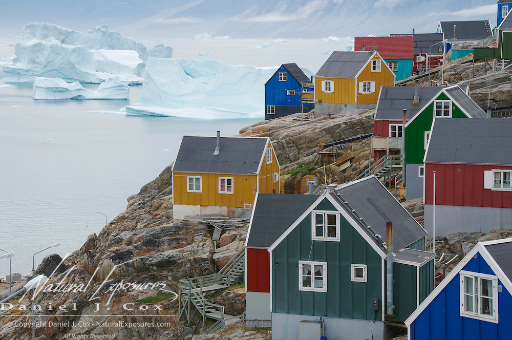 The small fishing village of Uummannaq, Greenland\