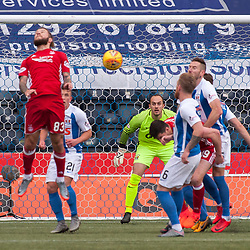 #83 Stevie May (Aberdeen) heads on a cross as Aberdeen go 0-2 up - Kilmarnock v Aberdeen - Ladbrokes Premiership - 26 November 2017 - © Russel Hutcheson | SportPix.org.uk