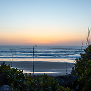 Sunset at Moolack Creek. Oregon Coast.