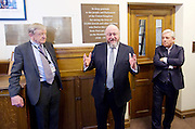 Kinderstransport plaque in Parliament, Westminster, London, Great Britain <br /> 27th January 2017 <br /> <br /> Chief Rabbi and Archbishop of Canterbury to mark Holocaust Memorial Day with Lord Dubs at rededication of Kindertransport plaque in Parliament<br />  <br /> 20 years ago the Committee of the Reunion of the Kindertransport donated a plaque to Parliament commemorating Britain&rsquo;s act of generosity to Jewish children in Nazi-occupied Europe. On Holocaust Memorial Day [27 January 2017], the plaque will be rededicated in the presence of newly arrived child refugees who were reunited with their families from Calais last year by Safe Passage, a project of Citizens UK. <br />  <br /> The ceremony will be particularly poignant as it will be attended by Lord Dubs, himself a Kindertransport survivor, who passed an amendment to the Immigration Act last year, with the Government's support, affording sanctuary in the UK to some of the most vulnerable lone child refugees in Europe.<br />  <br /> Chief Rabbi, Ephraim Mirvis, <br /> Archbishop of Canterbury, Justin Welby, <br /> Speaker of the House of Commons, John Bercow, <br /> Lord Alf Dubs.<br /> Rededication of Kinderstransport plaque in Parliament<br /> <br /> <br /> <br /> <br /> Photograph by Elliott Franks