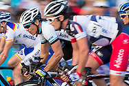 November 3, 2012 - Robbie McEwan (AUS) Fights His Way Through The Pack. Subaru Noosa Mens Grand Prix. Canon Canon 1Dx, Canon 300mm f/2.8 IS II lens, 1/100 @ f/8  Photo By Lucas Wroe ©
