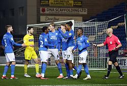 Ivan Toney of Peterborough United of celebrates scoring the opening goal of the game with team-mates - Mandatory by-line: Joe Dent/JMP - 21/01/2020 - FOOTBALL - Weston Homes Stadium - Peterborough, England - Peterborough United v Wycombe Wanderers - Sky Bet League One