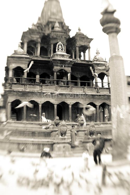 A temple in Patan's Durbar Square.