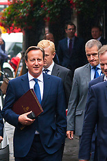 2014-09-01 David Cameron walks to Parliament to deliver anti-terror address