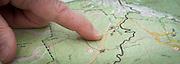 Checking the map at the Barkley Marathons.