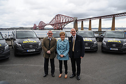 Nicola-Sturgeon, South Queensferry, 28-4-2016<br /> <br /> Stewart Hogie, Nicola Sturgeon and John Swinney<br /> <br /> (c) David Wardle | Edinburgh Elite media