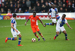 Bright Osayi-Samuel of Blackpool (C) in action - Mandatory by-line: Jack Phillips/JMP - 28/01/2017 - FOOTBALL - Ewood Park - Blackburn, England - Blackburn Rovers v Blackpool - FA Cup Fourth Round