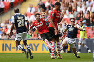 Adam Hammill of Barnsley scores his sides second goal to make the scoreline 2-0 during the Sky Bet League 1 Play-off Final between Barnsley and Millwall at Wembley Stadium, London<br /> Picture by Richard Blaxall/Focus Images Ltd +44 7853 364624<br /> 29/05/2016