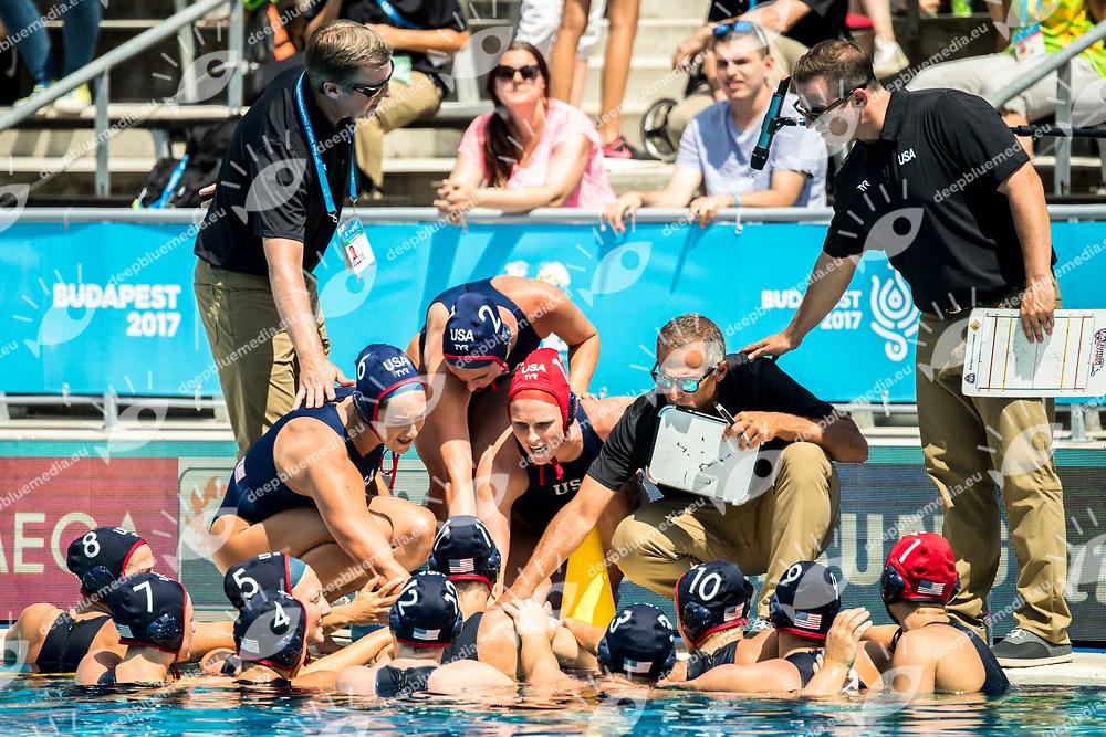Team USA United States  <br /> RSA (white cap) -  USA (blue cap)<br /> Preliminary Round Water Polo<br /> Day03  16/07/2017 <br /> XVII FINA World Championships Aquatics<br /> Alfred Hajos Complex Margaret Island  <br /> Budapest Hungary <br /> Photo @ Deepbluemedia/Insidefoto