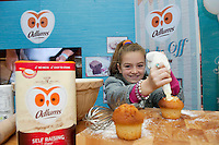 Armed with their brand new no mess flour tubs, The Odlums Roadshow came to Galway Shopping Centre on Saturday. Shoppers queued up to watch icing demo's, win Odlums goodies and taste the delicious Odlums cakes. The Great Irish Bakeoff sponsored by Odlums had contributed to a renewed interest in baking nationwide' . At the event was Neassa Collins Corofin.<br />  Photo:Andrew Downes.