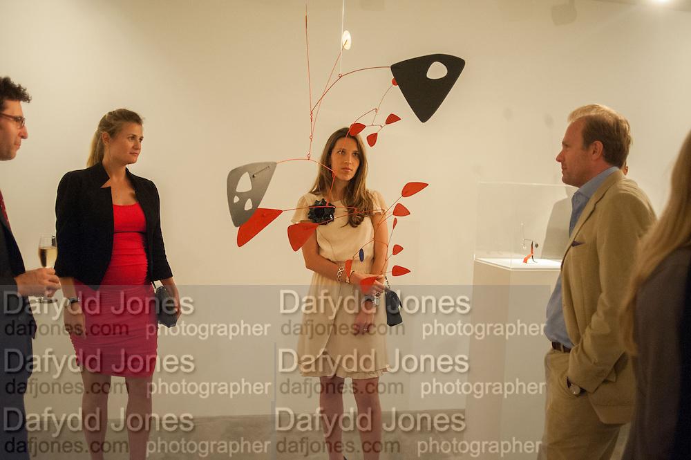 RODRIGO CORTES; CATALINA MARCH; BEATRIZ ORDOVAS; TOMASO CREMONESI, Pilar Ordovas hosts a Summer Party in celebration of Calder in India, Ordovas, 25 Savile Row, London 20 June 2012