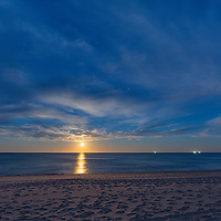 Full moon rise at Marconi Beach, Cape Cod National Seashore