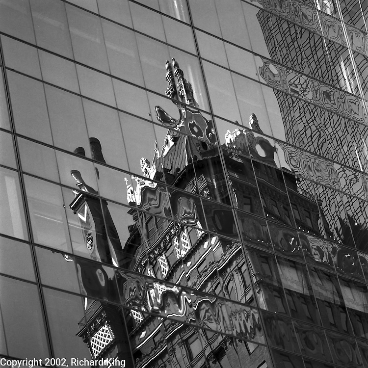 Reflections Of The Crown Building, Manhattan