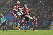 Crystal Palace Defender, Ezekiel Fryers (19) and Bolton Wanderers Midfielder, Josh Vela (6)  during the The FA Cup 3rd round match between Bolton Wanderers and Crystal Palace at the Macron Stadium, Bolton, England on 7 January 2017. Photo by Mark Pollitt.