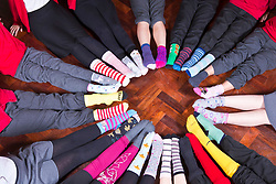 Pictured: <br /> Pupils at Butterwick Pinchbeck's Endowed Church of England Primary School have started a campaign of wearing odd socks to school to highlight the problems with bullying.<br /> James Sullivan | EEm date