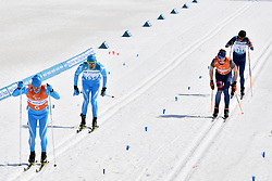 KANAFIN Kairat KAZ B2 Guide: ZHDANOVICH Anton, DUBOIS Thomas FRA B1 Guide: SAUVAGE Bastien competing in the ParaSkiDeFond, Para Nordic Skiing, Sprint at  the PyeongChang2018 Winter Paralympic Games, South Korea.