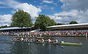 Henley. Great Britain. Final of the Remenham Challenge Cup, Leander and University of London [GBR W8+]  175th  Henley Royal Regatta, Henley Reach. England. 14:49:58  Sunday  06/07/2014. [Mandatory Credit; Peter Spurrier/Intersport-images]