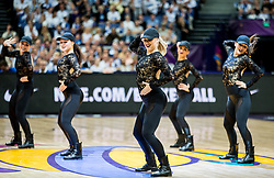 Cheerleaders perform during basketball match between National Teams of Finland and Iceland at Day 7 of the FIBA EuroBasket 2017 at Hartwall Arena in Helsinki, Finland on September 6, 2017. Photo by Vid Ponikvar / Sportida