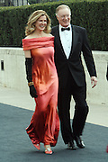 r to l: Chuck Scarbough and guest arrives at The Metropolitan Opera's 125th Anniversary Gala and Placido Domingo's 40th Anniversary Celebration underwritten by Yves Saint Laurent held at The Metropolitian Opera House, Lincoln Center on March 15, 2009 in New York City.