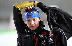 04.01.2012, DKB-Ski-ARENA, Oberhof, GER, E.ON IBU Weltcup Biathlon 2012, Staffel Frauen, im Bild Magdalena Neuner (GER) // during relay Ladies of E.ON IBU World Cup Biathlon, Thüringen, Germany on 2012/01/04. EXPA Pictures © 2012, PhotoCredit: EXPA/ nph/ Hessland..***** ATTENTION - OUT OF GER, CRO *****