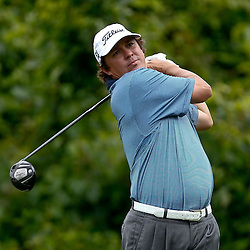 Apr 29, 2012; Avondale, LA, USA; Jason Dufner hits his tee shot on the second hole during the final round of the Zurich Classic of New Orleans at TPC Louisiana. Mandatory Credit: Derick E. Hingle-US PRESSWIRE